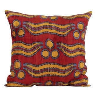 Large Chintamani Silk Velvet Pillow For Sale