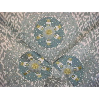 Manuel Canovas Aurimont Sauge Embroidered Gothic Upholstery Fabric - 2 Yards For Sale