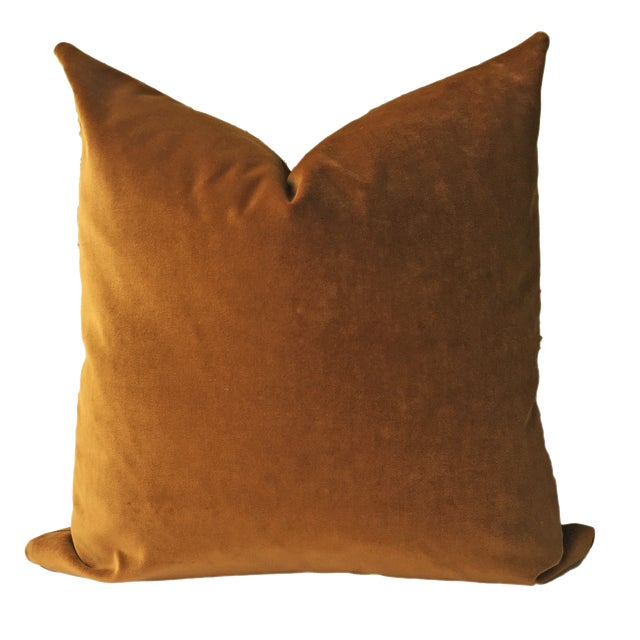 Brown Velvet Pillows - a Pair - Image 2 of 5