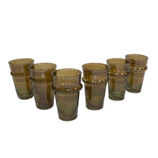 Beldi Brown Tea Glasses - Set of 6 For Sale