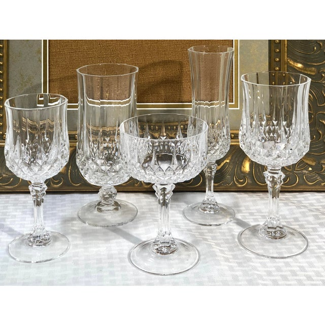 Cristal d' Arques Cristal d'Arques Durand Longchamp 5 Pc. Place Setting - 6 Sets / 30 Total Pieces For Sale - Image 4 of 10