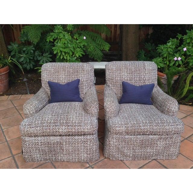Lee Industries Designer Club Chairs - Pair - Image 5 of 5