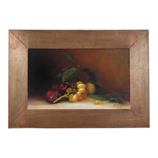 """Barbara Castrucci """"Table Grapes"""" Oil Painting For Sale"""