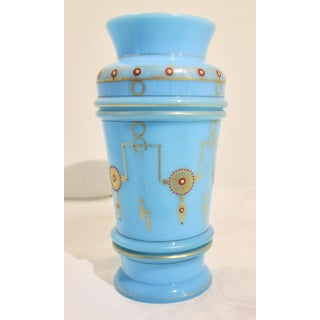 French Blue Opaline Napoleon III Vase Preview