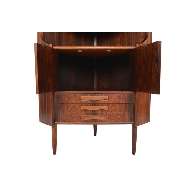 Danish Modern Rosewood Corner Bar - Image 8 of 9