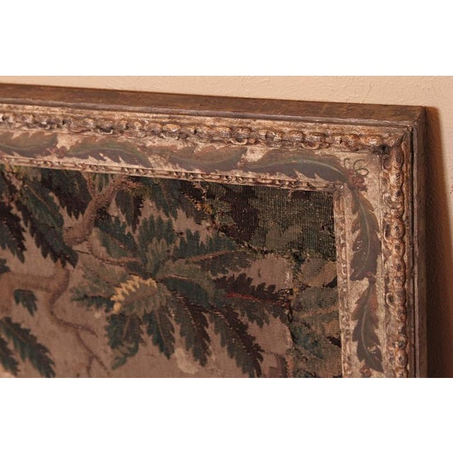 18th Century Framed French Aubusson Tapestry For Sale - Image 9 of 10