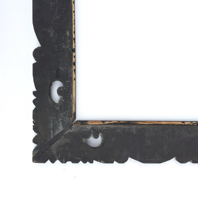 East Asian Hand Carved Mirror Frame - Image 5 of 5