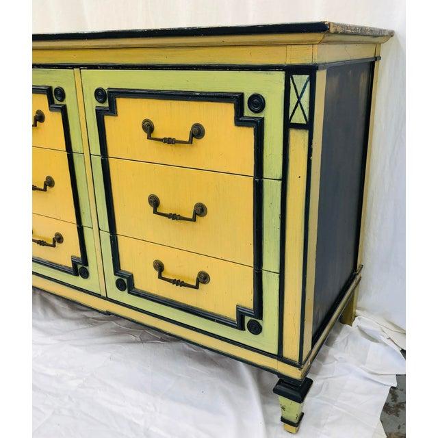 Green Vintage Painted Credenza Dresser For Sale - Image 8 of 12