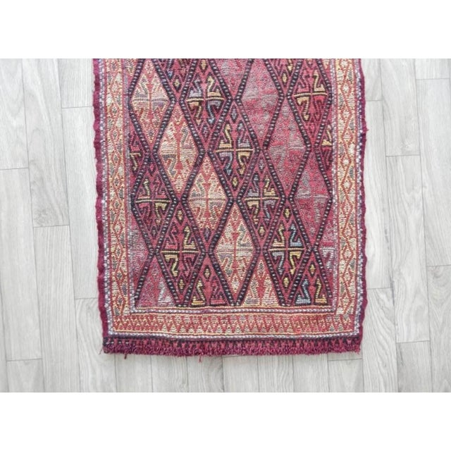 Small Turkish Oushak Kilim Rug 1′6″ × 2′9″ For Sale In Dallas - Image 6 of 8