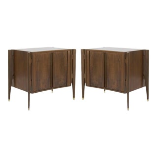 1950s Jorgen Clausen Bedside Tables in Rosewood, Denmark - a Pair For Sale