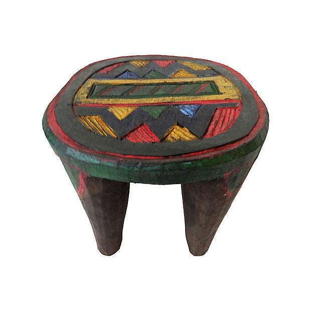 African Nupe Low Milk Stool - Image 6 of 6