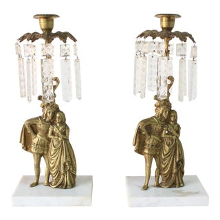 19th Century Victorian Gilt Bronze Candlesticks - a Pair For Sale