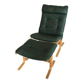 Ingmar Relling High Back Siesta Chair & Footstool