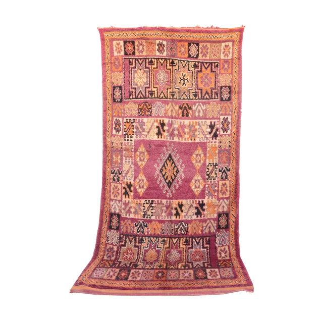 """Vintage Moroccan Beni M'Guild Rug - 6'6"""" x 13'3"""" For Sale"""