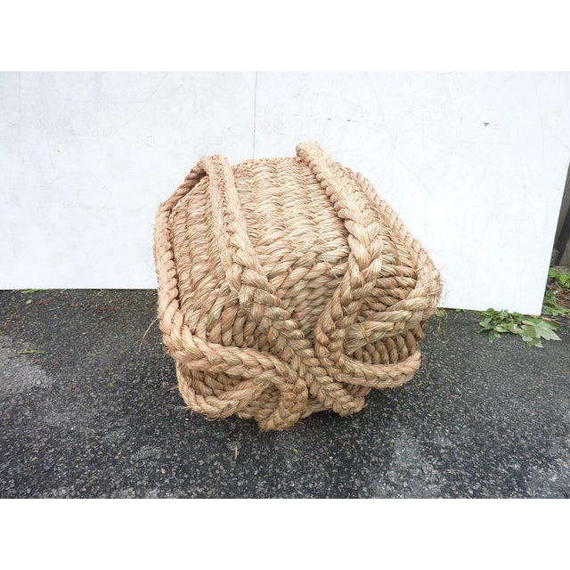 Modern Extra Large Vintage Woven Grass Basket For Sale - Image 3 of 5