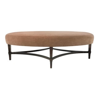 Barbara Barry for Henredon Transitional Nola Oval Ottoman For Sale