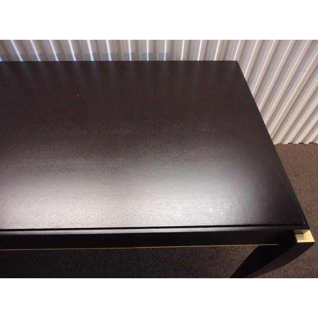 Mid-Century Modern Dark Wood Tanker Desk For Sale In New York - Image 6 of 13