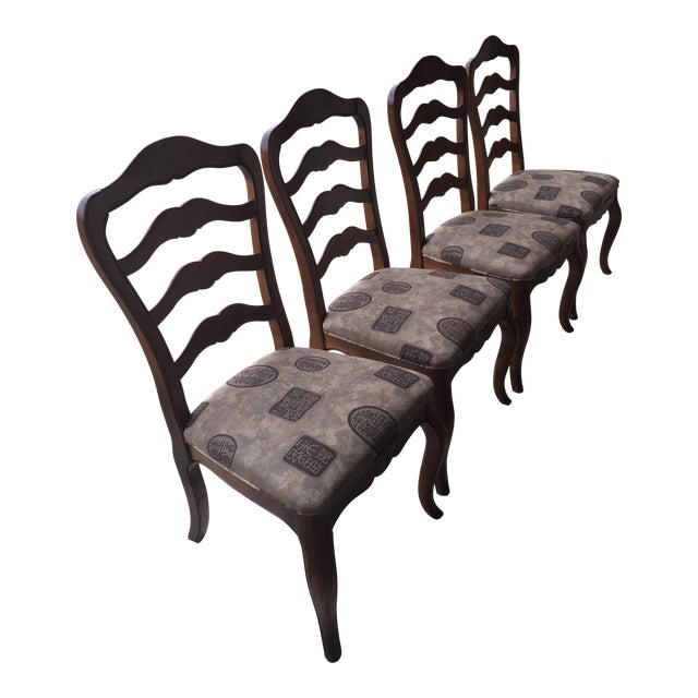 Ethan Allen Country French Dining Chairs - Set of 4 - Image 1 of 6