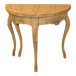 Baker Country French Style Flip Top Card Table For Sale