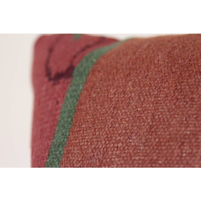 Islamic Turkish Kilim Rug Pillow For Sale - Image 3 of 5