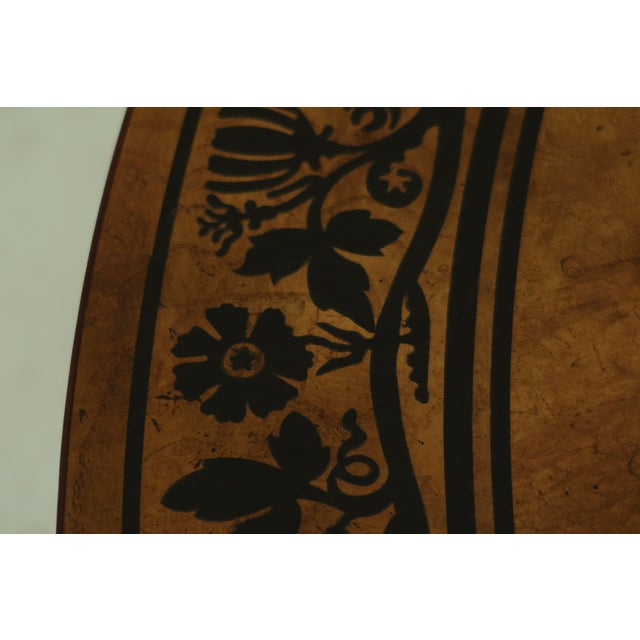 1990s Baker Stately Homes NeoClassical Round Center Table For Sale - Image 5 of 11