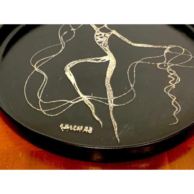 Mid-Century Modern Midcentury Sascha Brastoff Abstract Nude Circular Gallery Tray For Sale - Image 3 of 10
