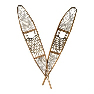 1940s Vintage Real Military Snowshoes - a Pair For Sale