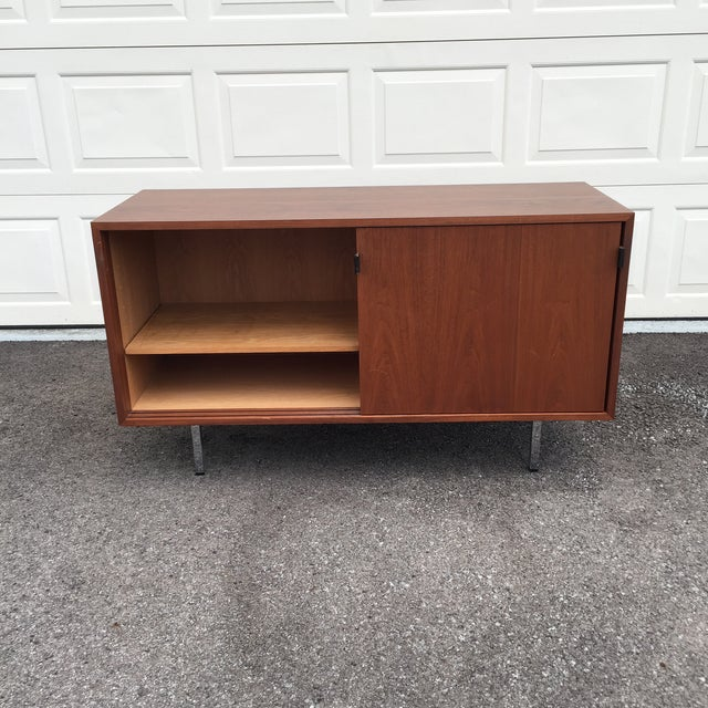 Industrial 1960s Mid-Century Modern Florence Knoll Credenza For Sale - Image 3 of 11