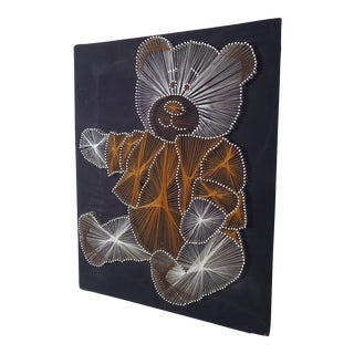 Mid Century Modern String Art of Teddy Bear For Sale