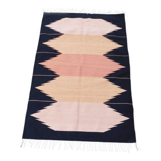 Zapotec Flat Weave Rug - 4′ × 6′ For Sale