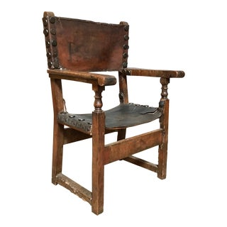 17th Century Spanish Throne Armchair For Sale
