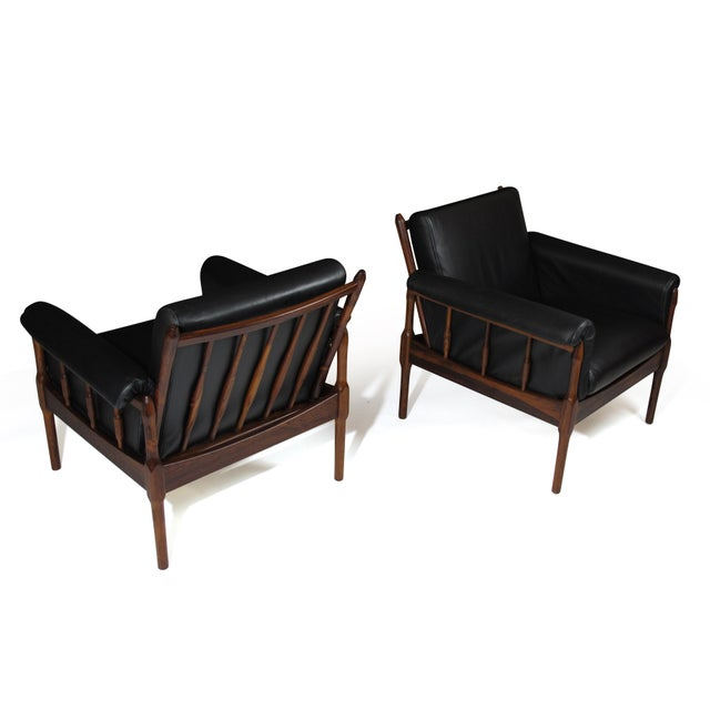 Torbjørn Afdal Rosewood Lounge Chairs - a Pair For Sale - Image 10 of 12