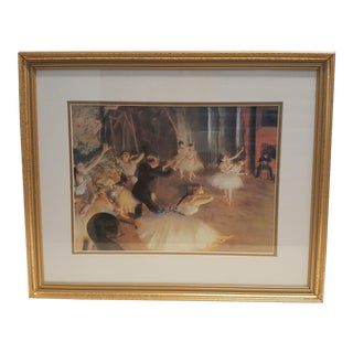 Degas Rehearsal of the Ballet Onstage Framed Print For Sale
