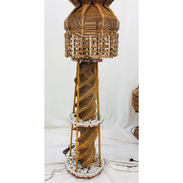 Vintage Folk Arts & Crafts Lamp For Sale - Image 4 of 10