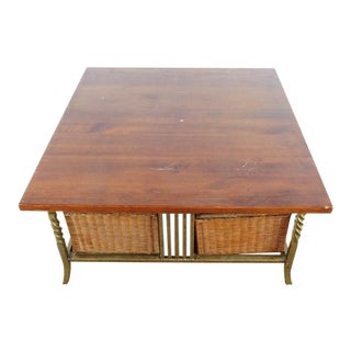 Vintage Used Wicker Coffee Tables Chairish