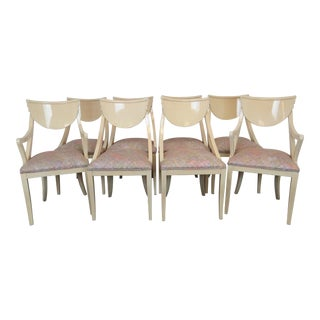1980s Vintage Pietro Costantini for Ello Furniture Dining Chairs - Set of 8 For Sale