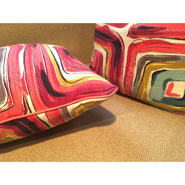 THE BERKELEY | Sustainable Luxury • A gorgeous bespoke pillow set made of vintage 1970's barkcloth - the signature fabric...