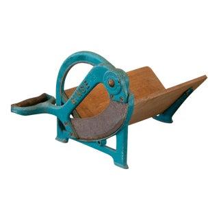 Vintage Ginge Danish Bread Cutter, Original Blue Painted Finish For Sale