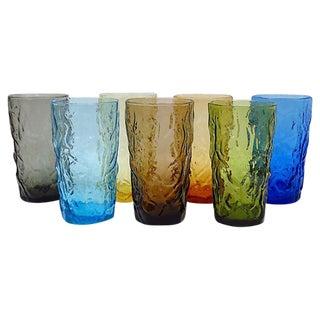 Multi-Color Glass Tumblers - Set of 7