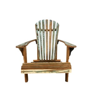 Reclaimed Wood Adirondack Chair For Sale