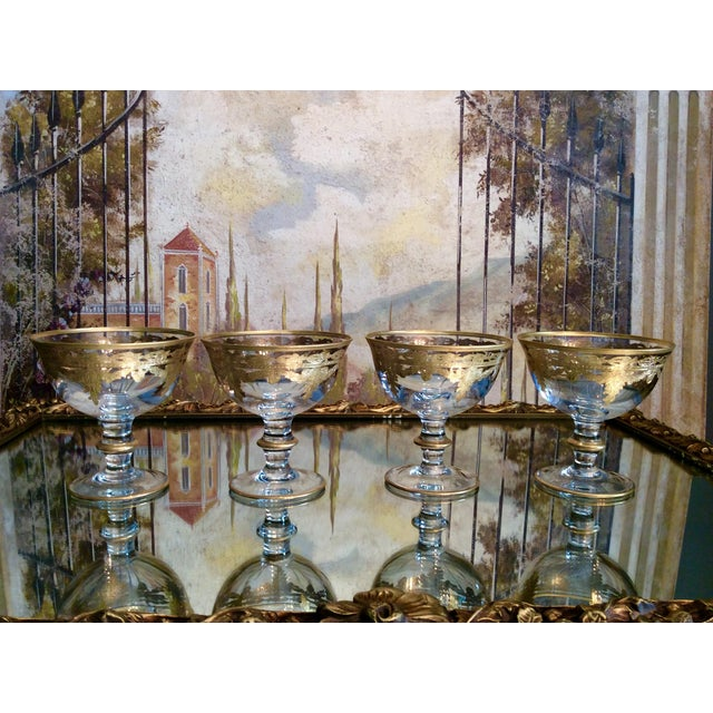 Arte Italica Vetro Gold Dessert Bowls - Set of 4 - Image 3 of 10