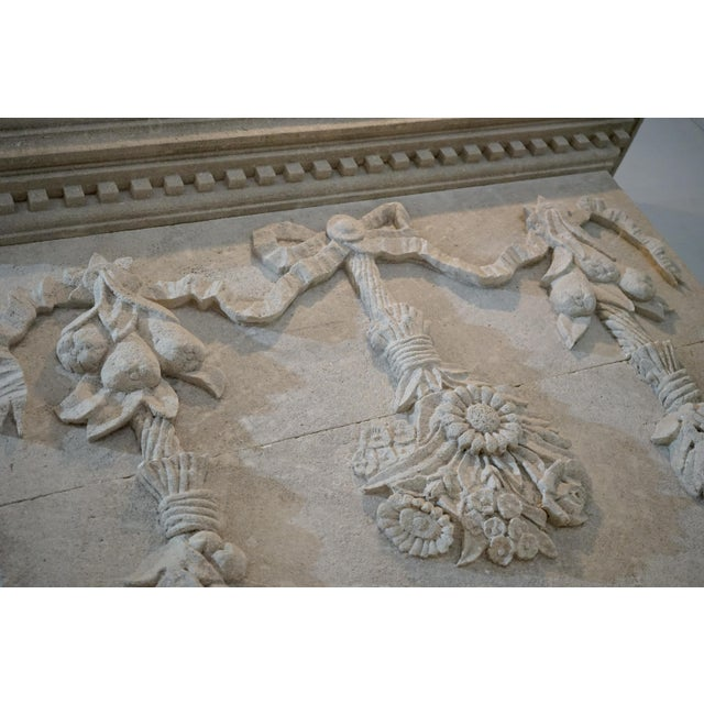French Hand Carved Mantel with Trumeau For Sale - Image 3 of 8
