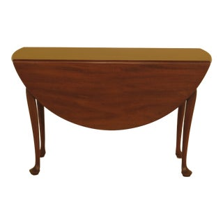1960s Queen Anne Biggs Mahogany Drop Leaf Table For Sale