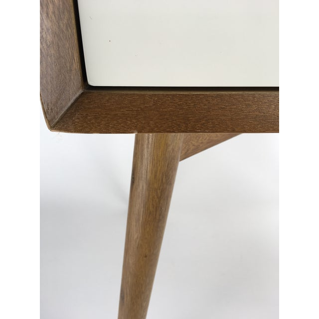West Elm Mid-Century Style Two-Tone Nightstand Side Table For Sale - Image 5 of 9