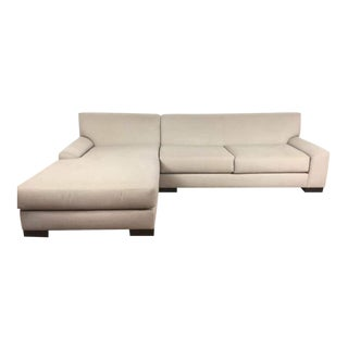 Contemporary Beige Sectional Sofa