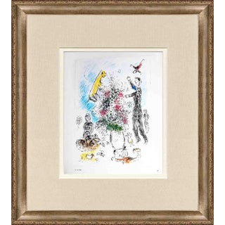 "Marc Chagall ""Les Lilas"" 1981 Framed Poster"