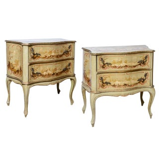 Pair of Italian Painted Chests For Sale