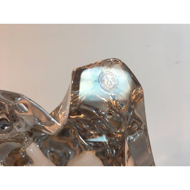 Baccarat Crystal Elephant With Baby For Sale - Image 6 of 7