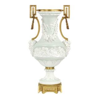 Neoclassical Gilt Bronze Mounted Jasperware Vase, 19th Century For Sale