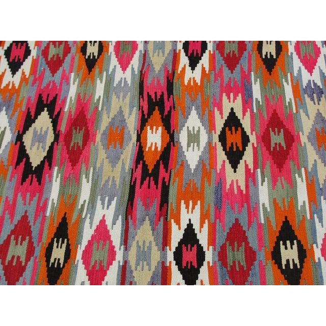 Vintage Turkish Kilim Rug - 4′4″ × 6′10″ For Sale In Houston - Image 6 of 11